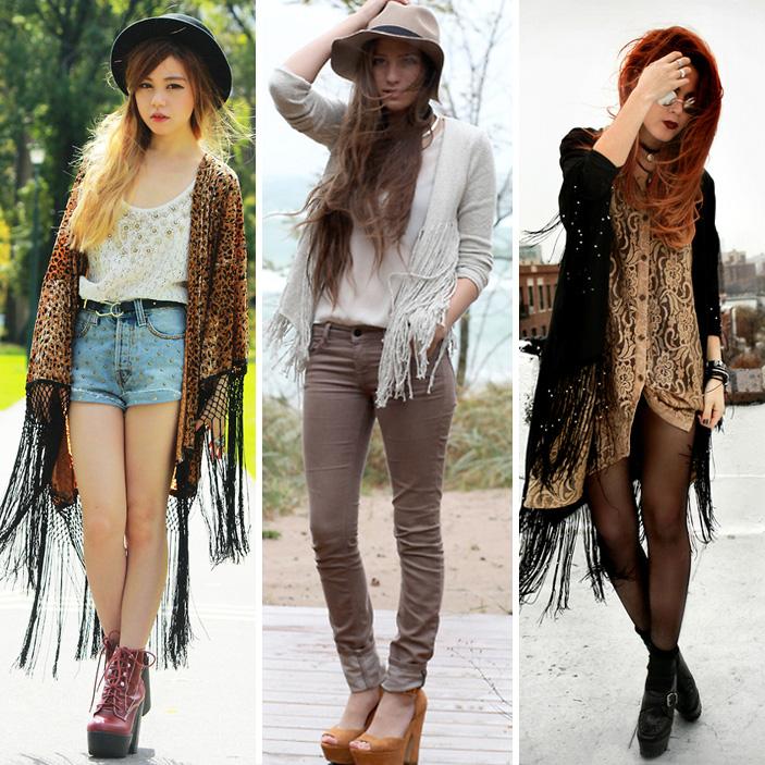 Em quimonos ou casacos